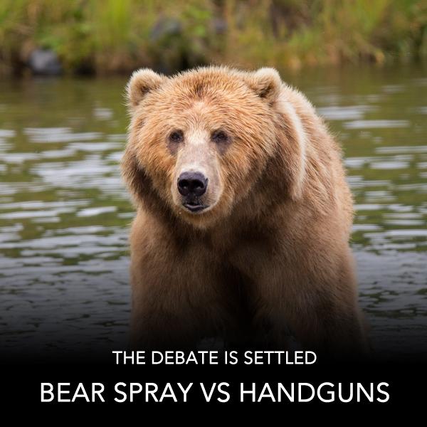 Bear Spray vs Handguns