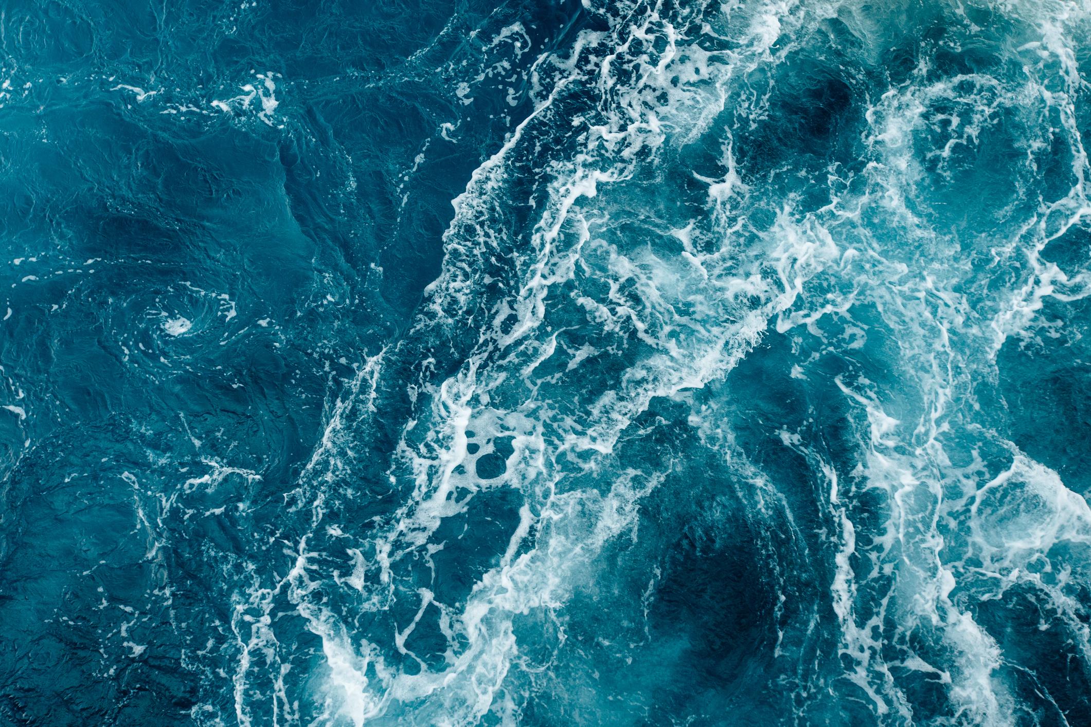 Wave formation of the adriatic sea ocean